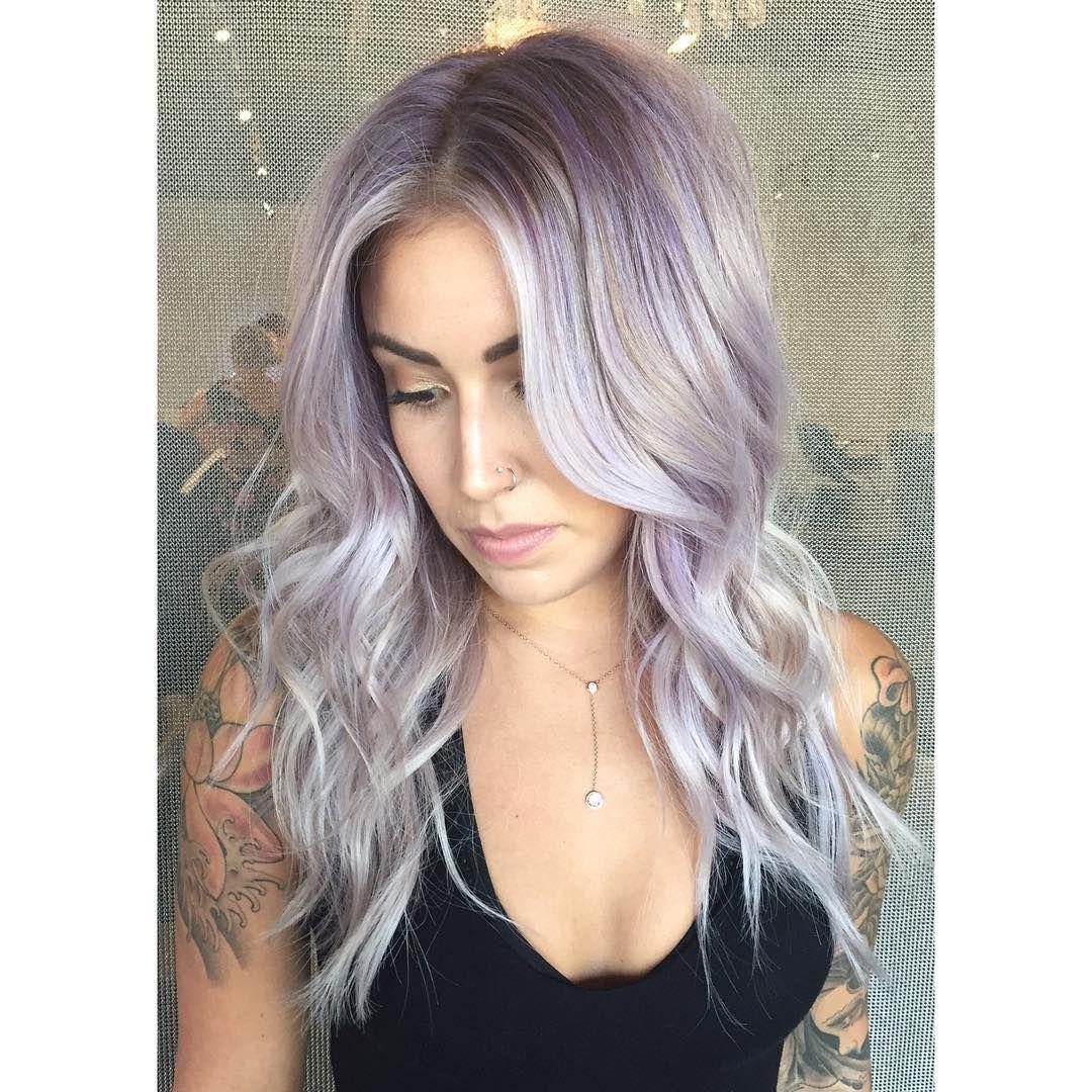 alluring light purple hair color