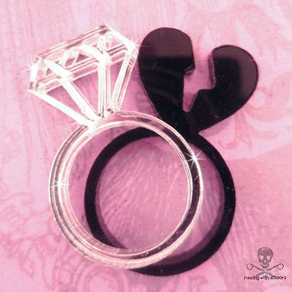Broken Promises Layered Laser Cut Acrylic Ring Maybe I