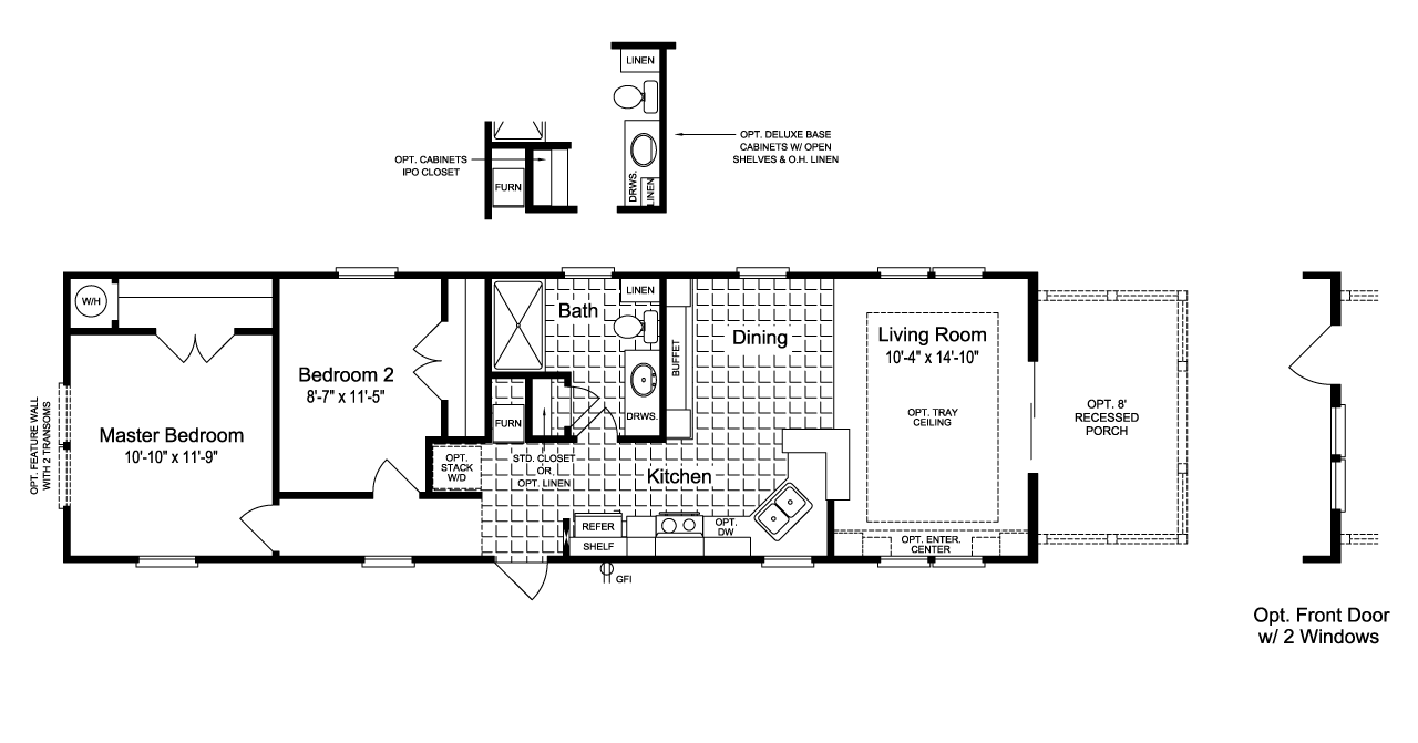 Floor Plan The Sunset Cottage Ii 16522a Cabin Floor Plans Manufactured Homes Floor Plans Shed House Plans