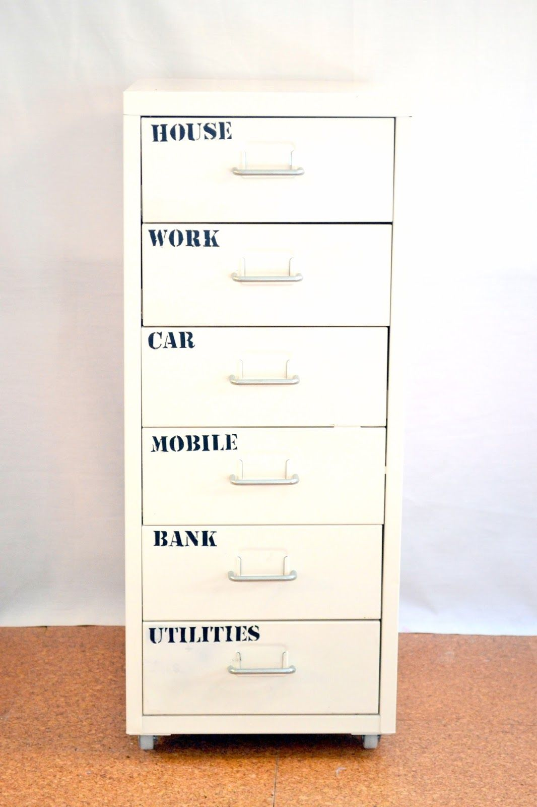 Nostalgiecat Free Downloadable Army Style Stencil Pattern For Labeling Your Household Paperwork Tu Filing Cabinet Filing Cabinet Organization Drawer Labels File cabinet drawer label template