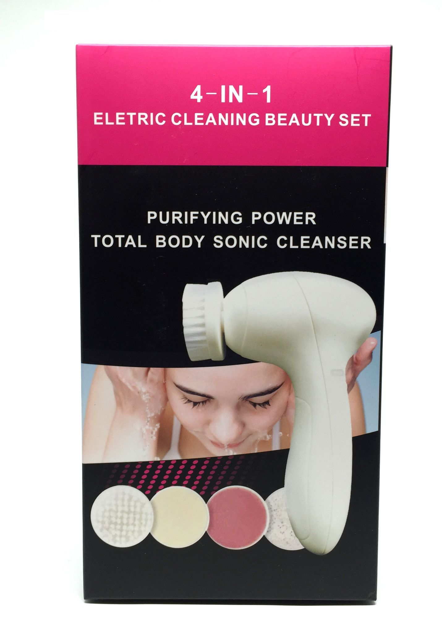 4 in 1 Face Cleanser, Massager Manicure and Pedi Care