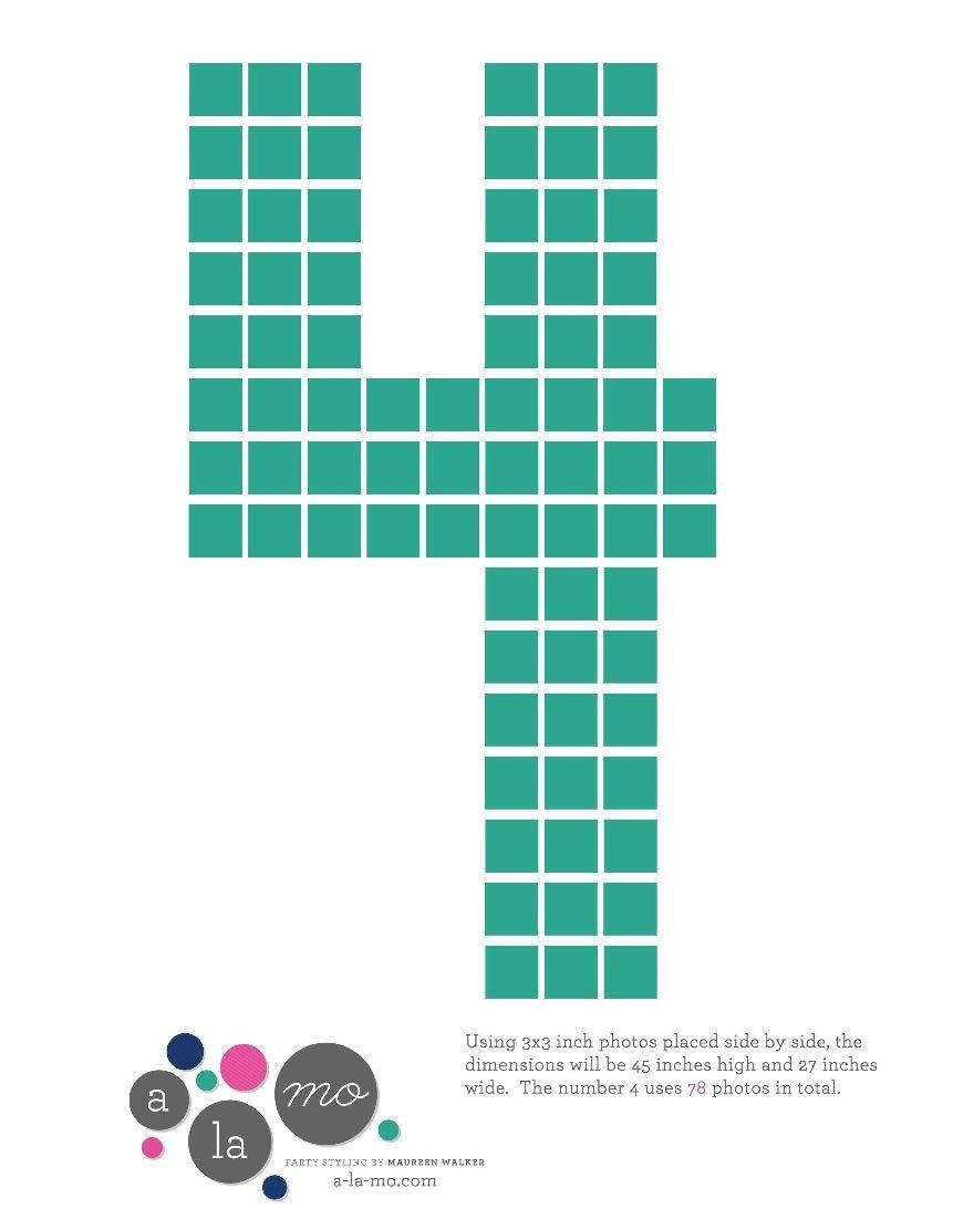 DIY Number Photo Collage | Entertaining Ideas | Pinterest ...