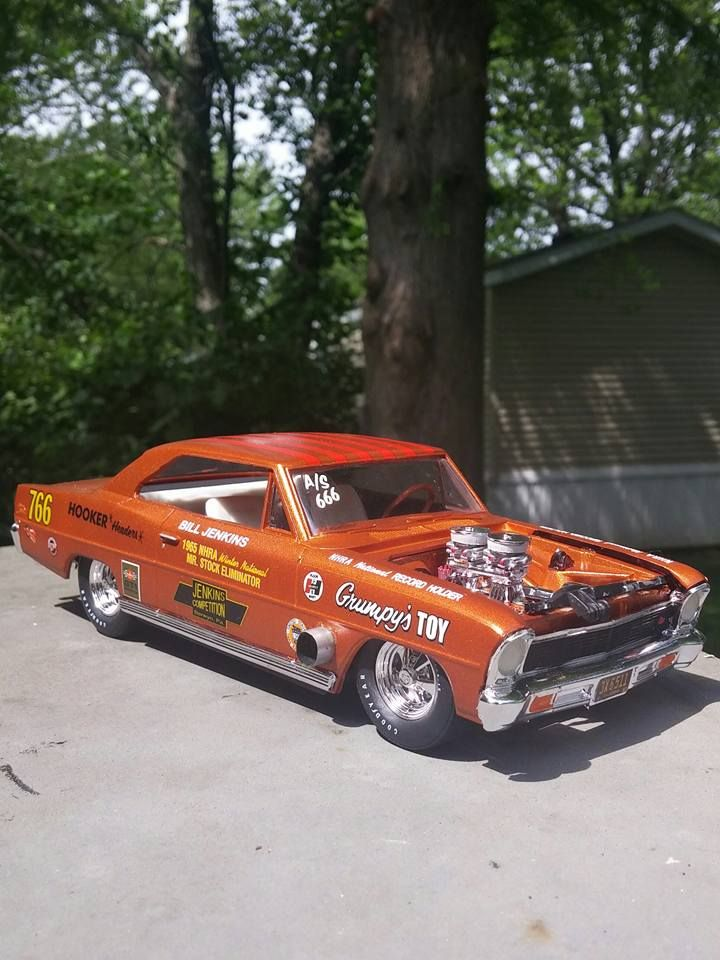 The Original Bill Grumpy Jenkins Chevrolet Nova Grumpy S Toy Drag Cars Drag Racing Cars Old Race Cars