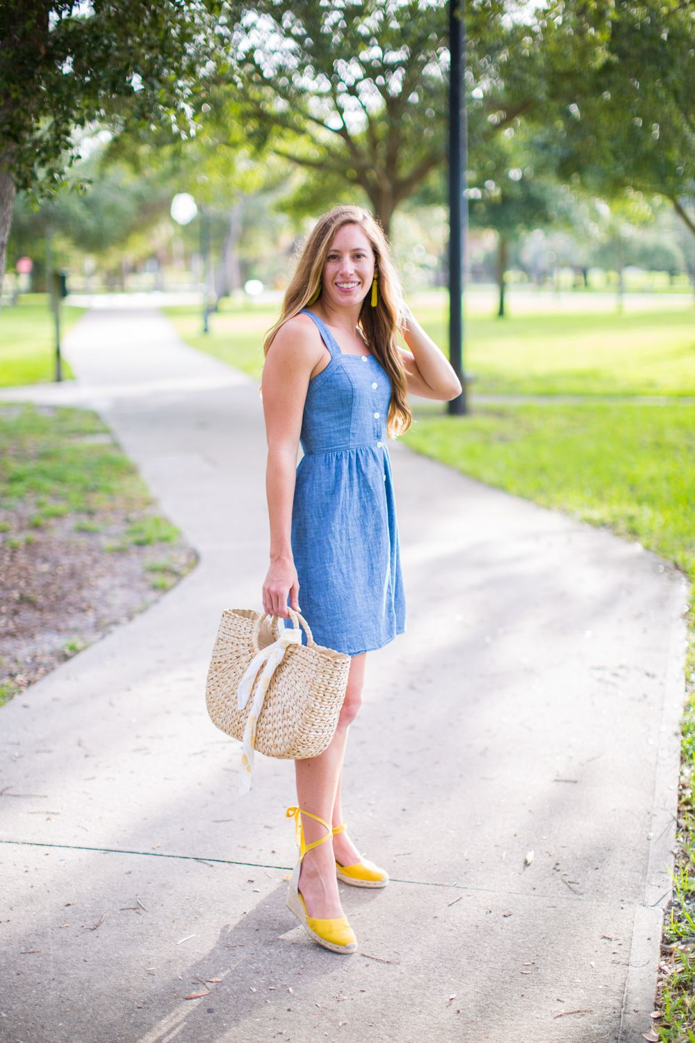 Affordable Chambray Button Up Dresses for Summer - Sunshine