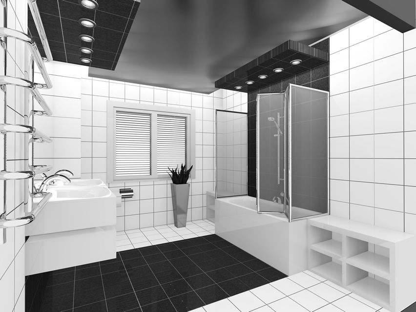 15 Black and White Bathroom Ideas (Design Pictures) | Bathroom ... on black and kitchen designs, black white grey bathroom, black ceiling in bathroom, black and white bath, black and white pool, pretty black and white designs, black and white decorative design, black bathroom ideas, black themed bathrooms, black and white small kitchen, black and white dining room design, black and shower designs, black and white furniture design, black white bathroom wallpaper, black and white wallpaper designs, black and white photography galleries, black and white living room, bathtub designs, black and white tile designs, black and white shower curtain,