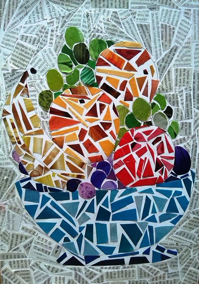 Mosaico Feito Com Papel De Revista Com Imagens Mosaico De