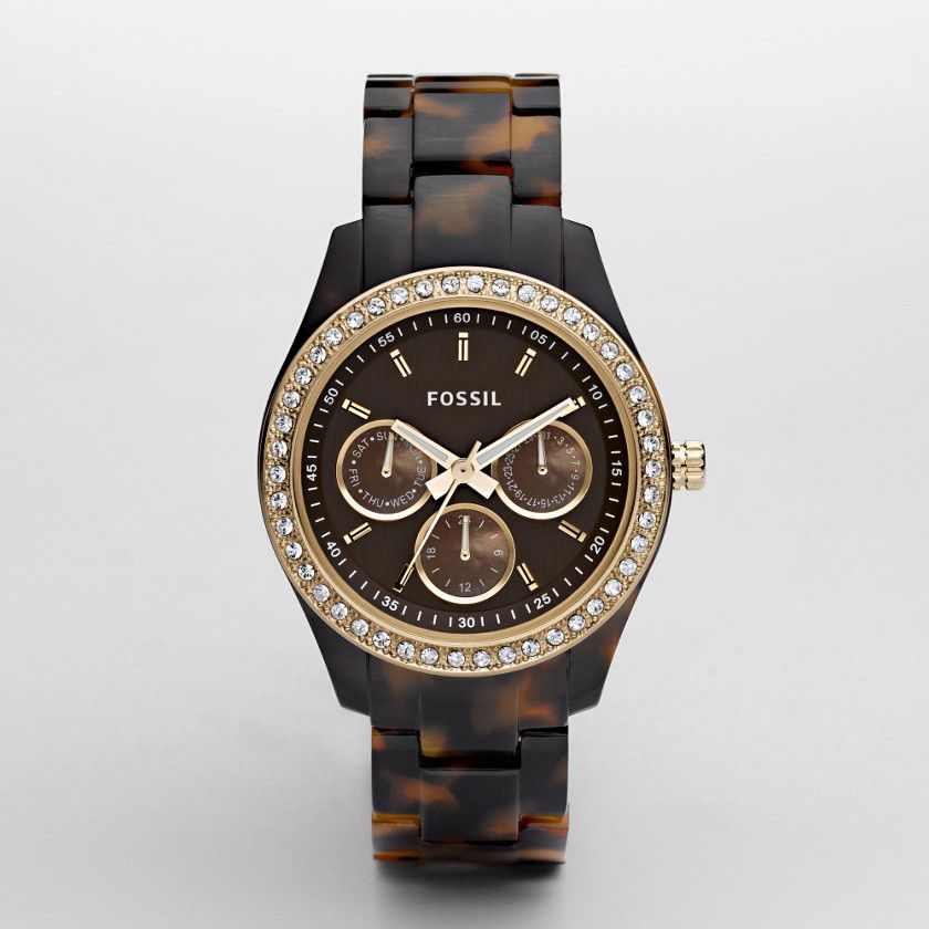FOSSIL® Watch Collections Stella Watches:Women Stella Resin Watch - Tort with Gold-Tone ES2795