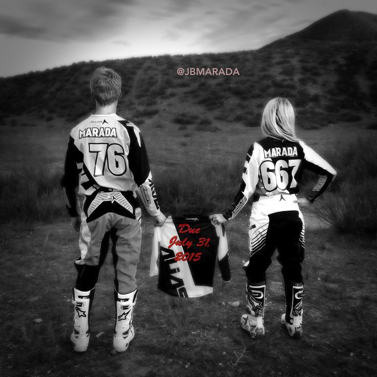 Dirtbike Baby Announcement Motocross Couple Baby Loving