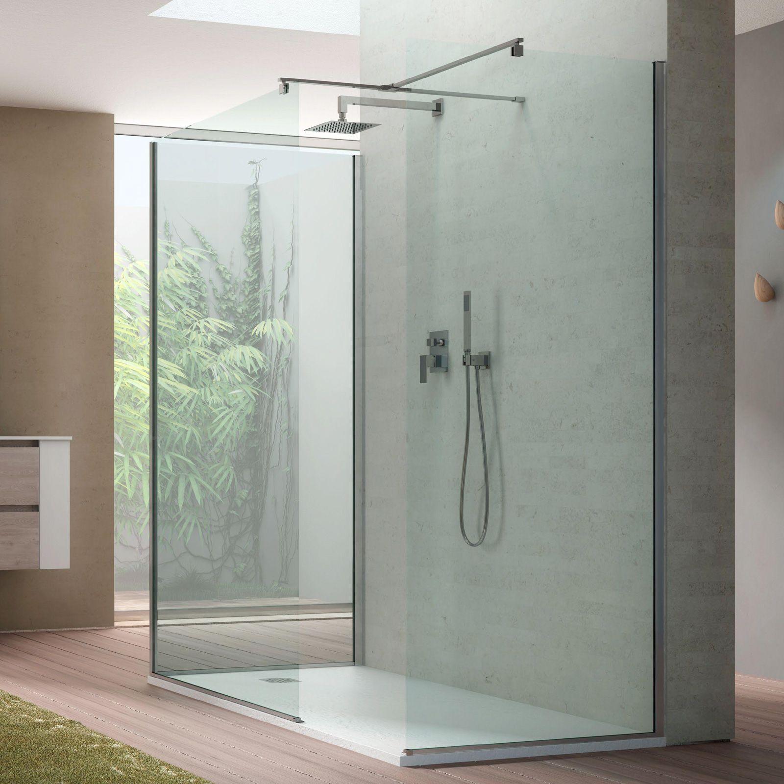 Box doccia design Walk in 3 lati per piatti doccia 80x170 | Bathroom ...