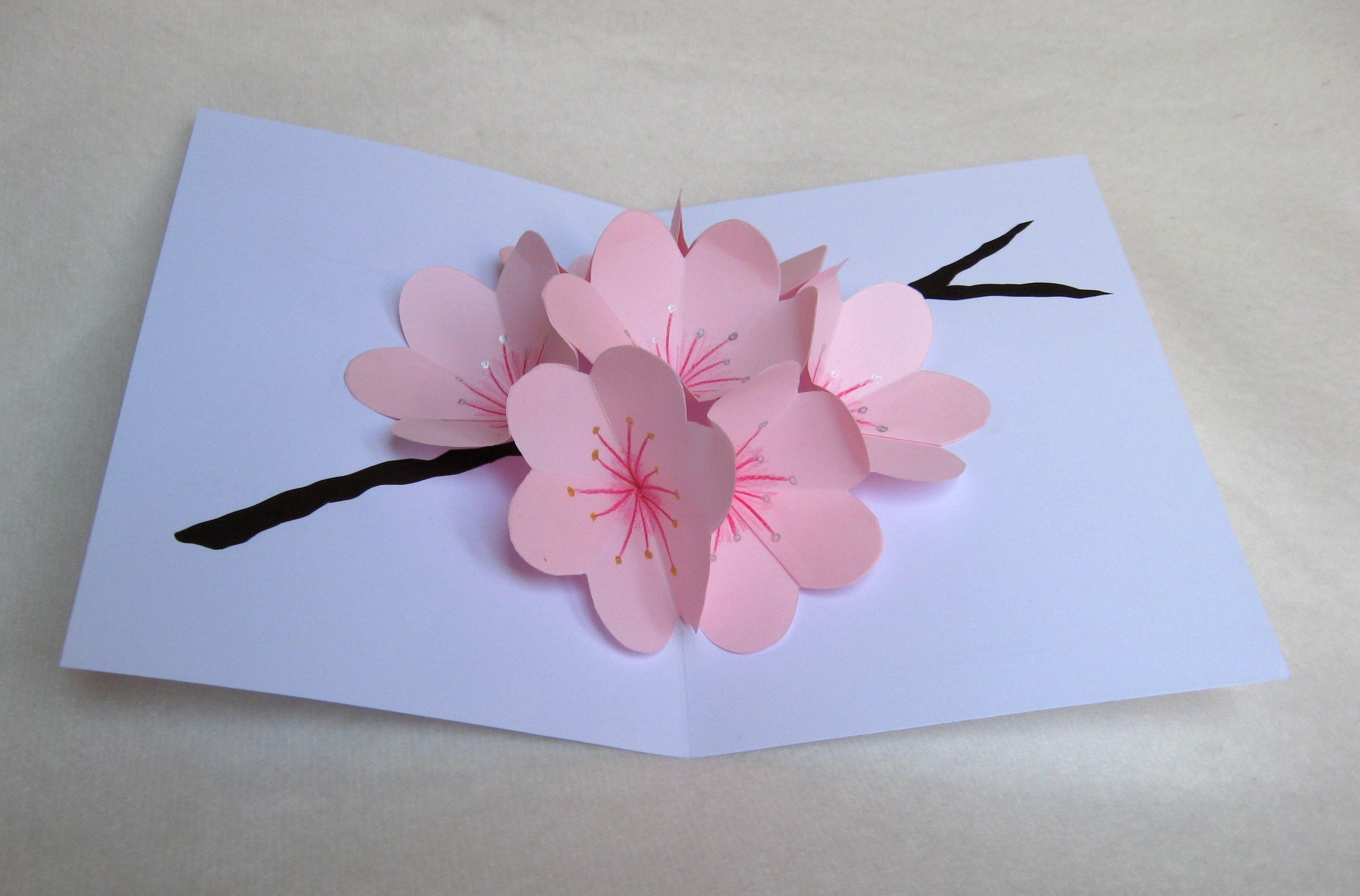 Flower Pop Up Cards On Behance Pop Up Flower Cards Pop Up Cards Birthday Card Pop Up