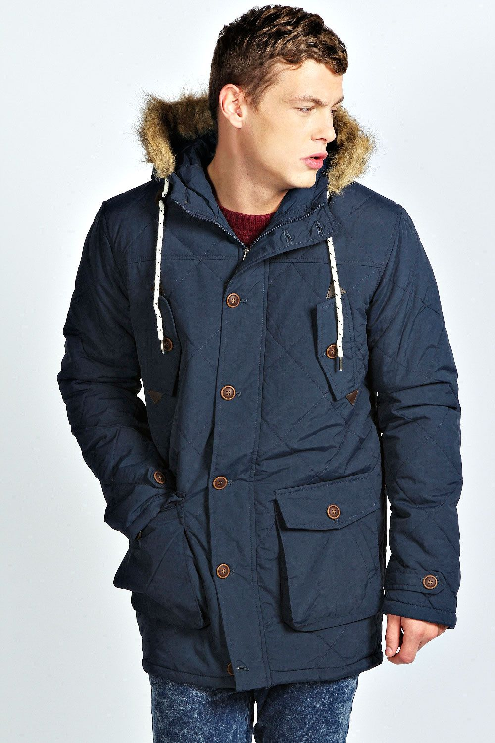 Nylon Fishtail Quilted Parka | Cold-Weather Clothing for Men ...