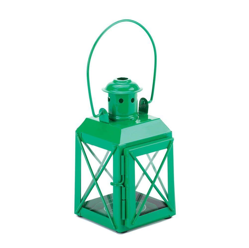 GREEN RAILWAY CANDLE LAMP