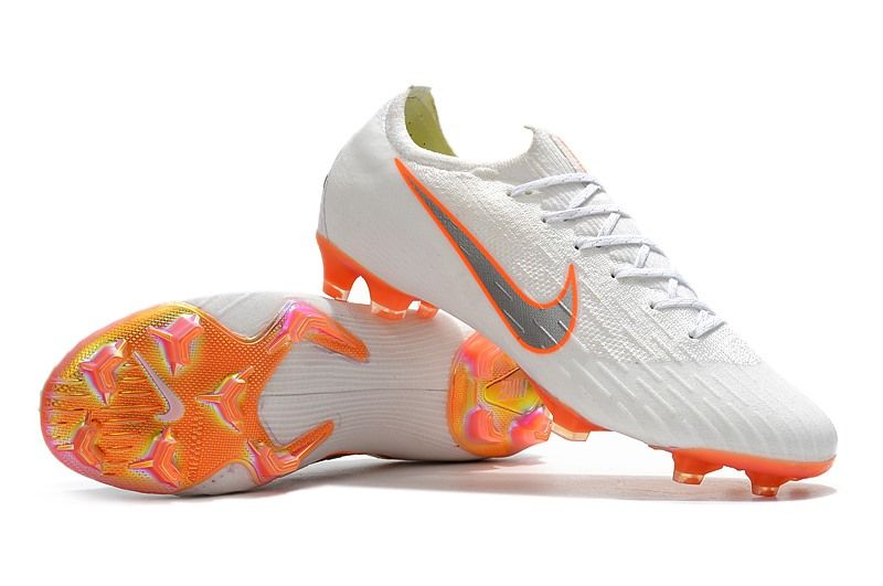Nike World Cup 2018 Mercurial Vapor XII FG Boots - White Orange ... 21d0163ee711e