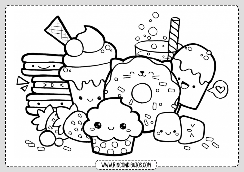 Dibujos Kawaii Para Colorear Rincon Dibujos Dibujos Garabateados Dibujos Kawaii Arte De Manualidades Faciles