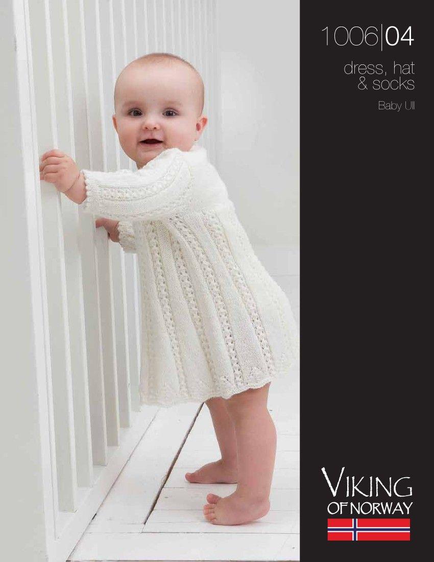 Baby Ull Dress, Hat & Socks – 1006-04 | Knitting Fever Yarns & Euro ...