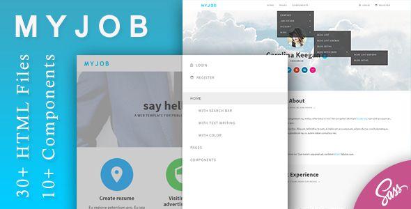 job posting html template  nice Myjob - Job Postings HTML Template (Organization) | ThemeForest ...