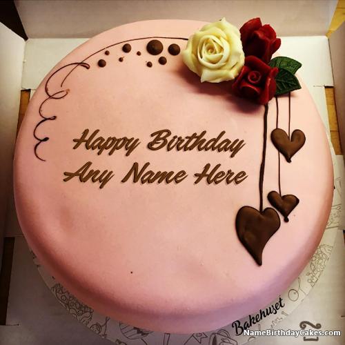 Write name on Happy Birthday Chocolate Cake With Name Edit