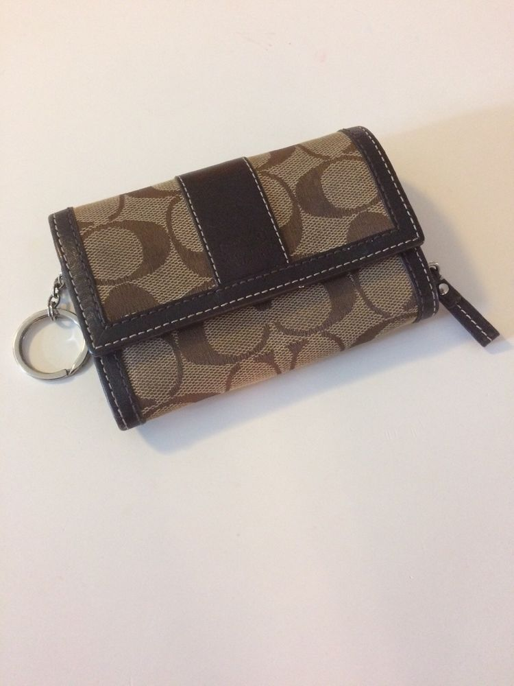 Coach Small Wallet For Women Brown Used Wallet Purses Bags