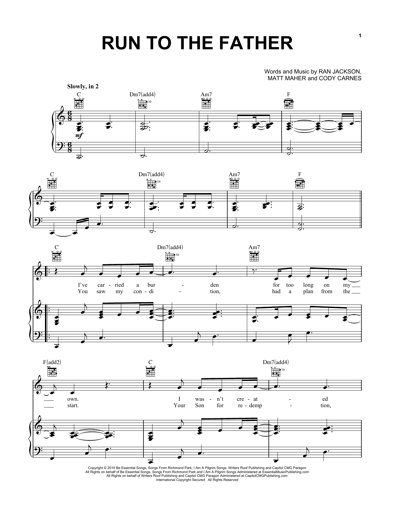 Free Partition Music Sheet Other Father Song Piano Sheet Music