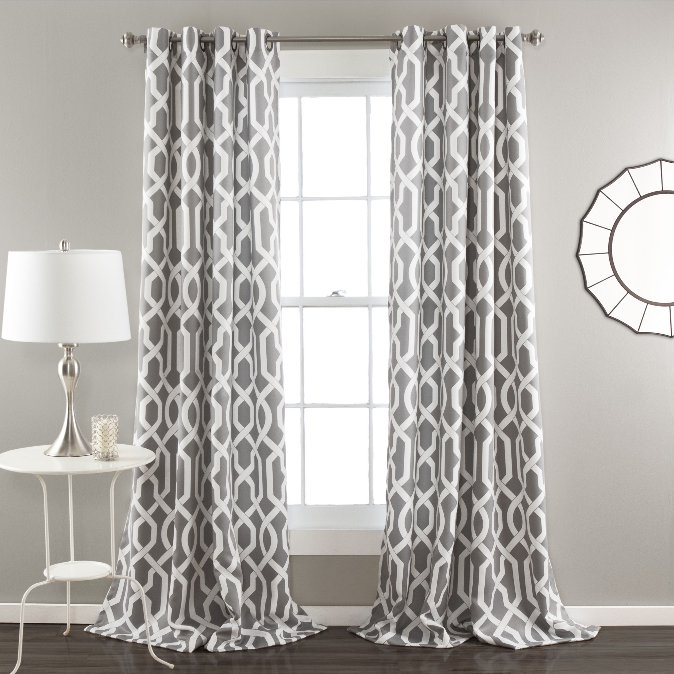 elements home polyester inch curtains garden of lattice cotton product sheer x and window burnout free shipping set overstock today