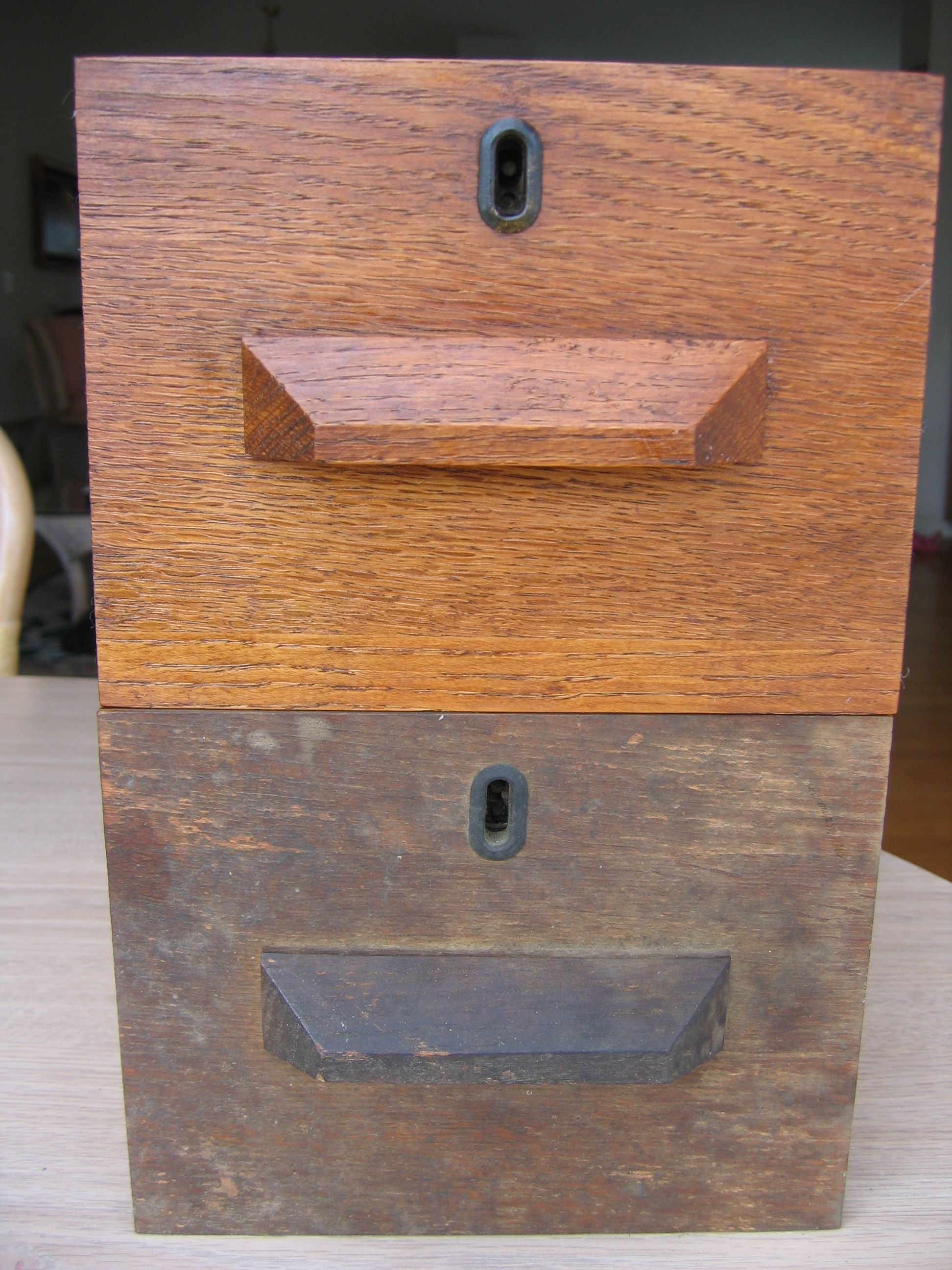 Before And After Antique Desk Drawer Clean With Touch Of