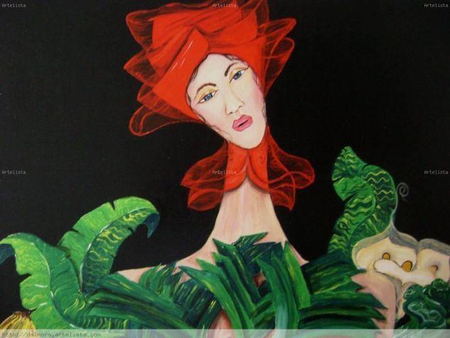 David Alvarado.  Canadá. Mujer del turbante rojo.