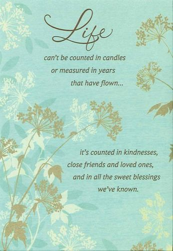 Sweet Blessings Floral And Leaves Large Birthday Greetings For Facebook Wishes Cards