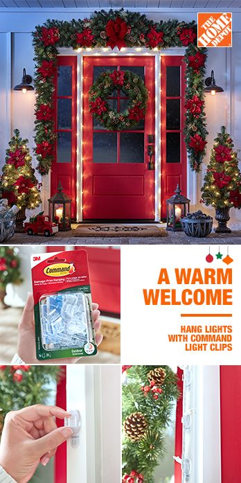 Be Sure Every Welcome Is A Warm One This Holiday Season With Command Outdoor Light Clips Yo Outdoor Christmas Decorations Christmas Deco Christmas Decor Diy