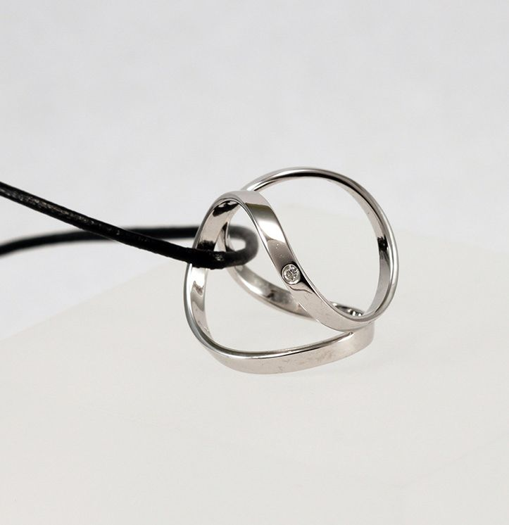 Pendentif diamant Cage d'Amour