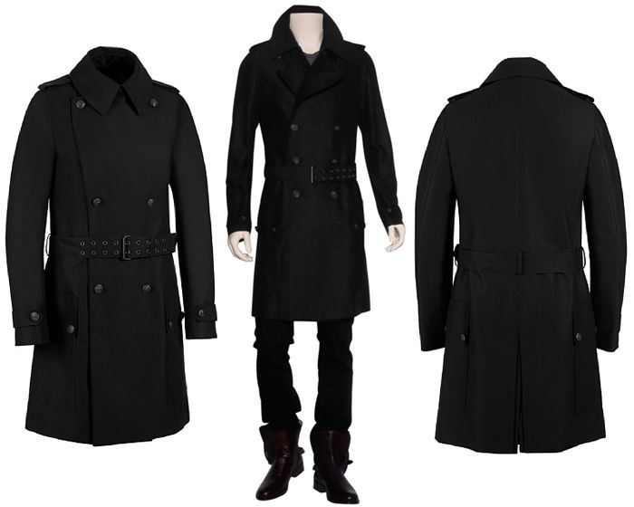 Black Military Trench Coat