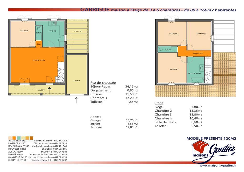 Plan Maison A Etage 80m2 Plans De Maison Duplex Plan Maison Plan Maison Plain Pied