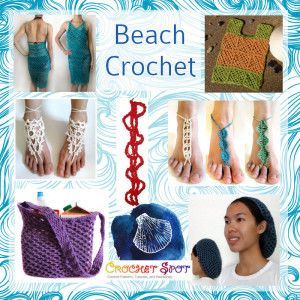 Beach Crochet Pattern Round-Up for Summer!