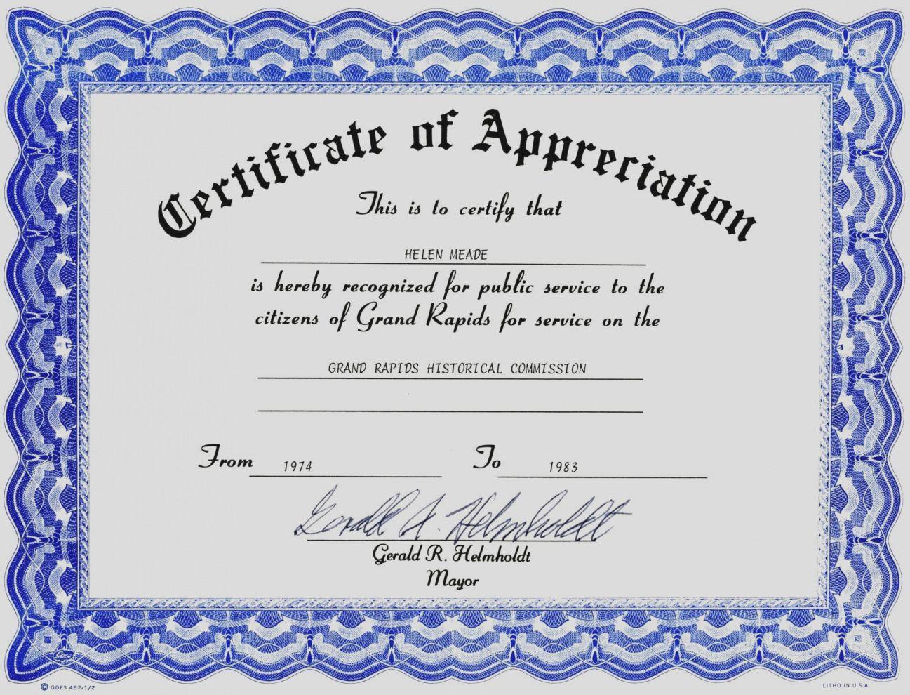 Work Anniversary Certificate Template Word In Employee Anniversary
