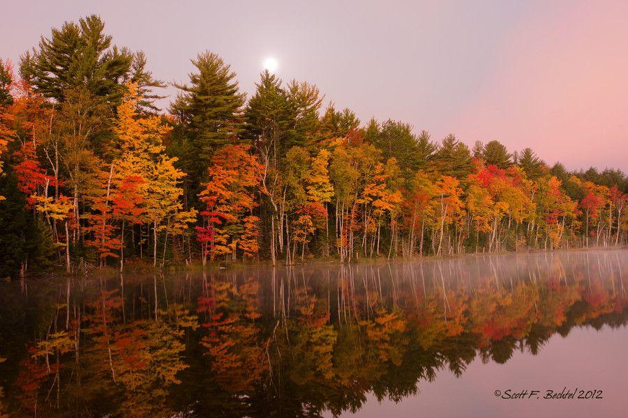 Sunrise Moonset by Scott Bechtel on 500px