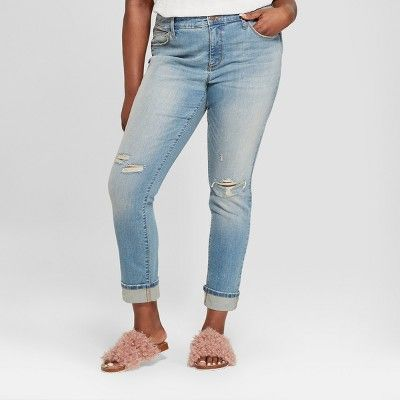e4701713a44 Women s Plus Size Destructed Skinny Jeans - Universal Thread™ Medium Wash  18W   Target