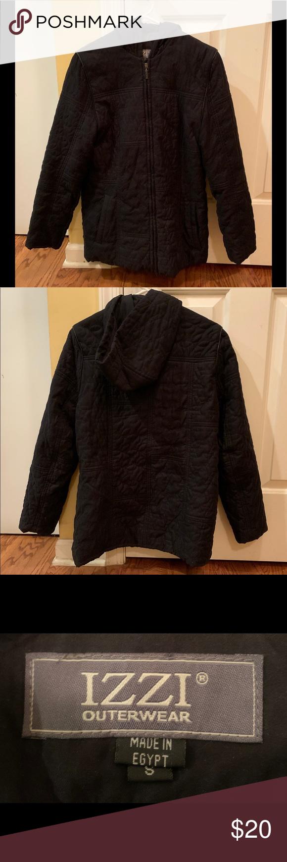 Black Izzi Outerwear Coat Small Womens Black Winter Coat Izzi Outerwear Made In Egypt Size S Black Winter Coats Women Outerwear Black Winter Coat [ 1740 x 580 Pixel ]