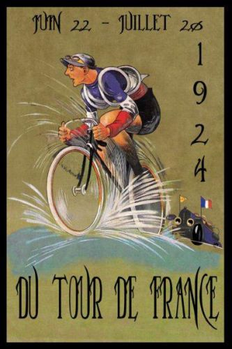 POSTER 1924 OLIMPIQUE CYCLES BICYCLE FRENCH CYCLING BIKE VINTAGE REPRO FREE S//H
