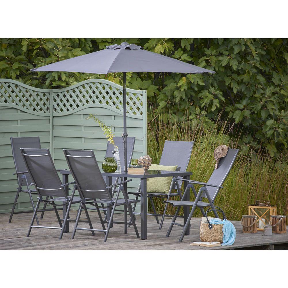 Wilko Reclining Dining Set 6 Seater | Wilko | Outdoor Furniture ...