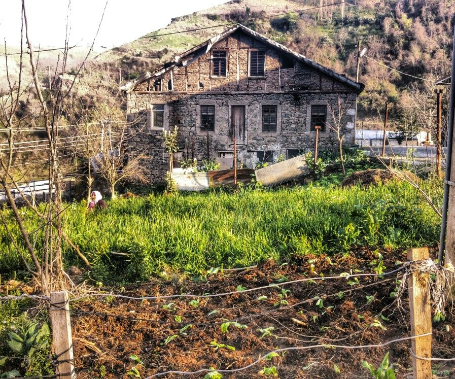 Rock house. Turkey/Black Sea/Trabzon.