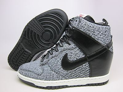 on sale 07f7c c303e NEW NIKE WOMENS DUNK SKY HIGH TXT  644410-001  BLACK  BLACK-WOLF GREY-LGN  RED