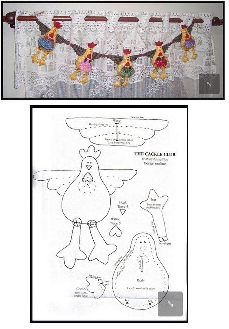 L Atelier De Jules Et France Artisanat Poulet Motifs De Couture Animaux Projets De Couture