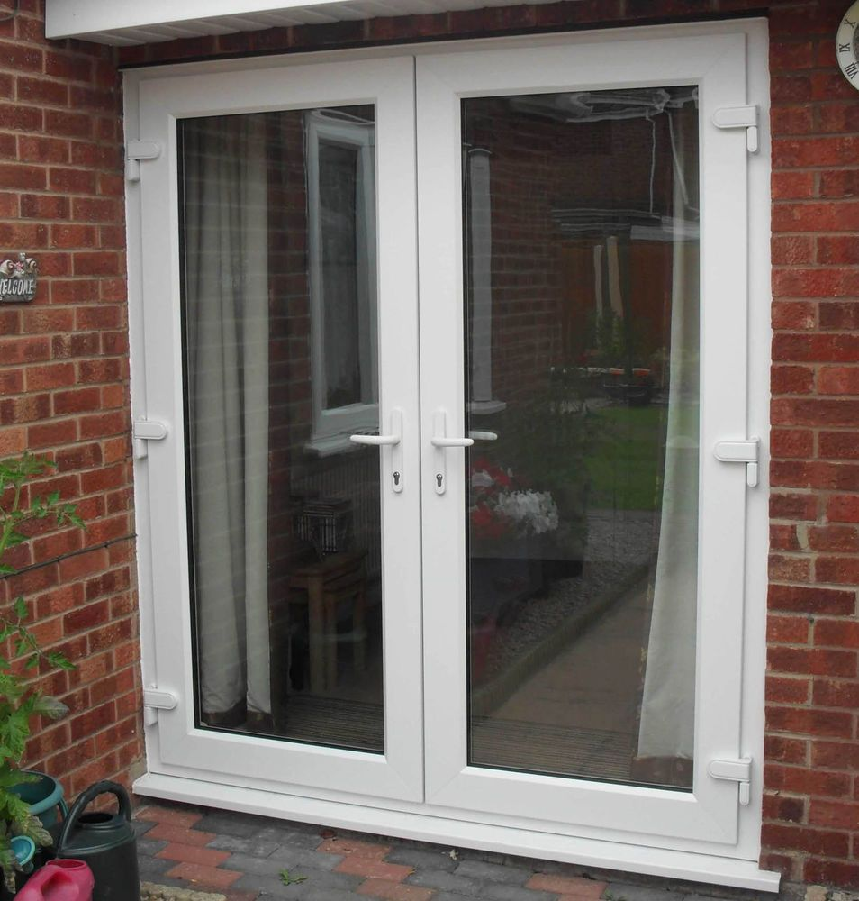 Upvc French Doors White Oak Cream Black Grey Patio Doors