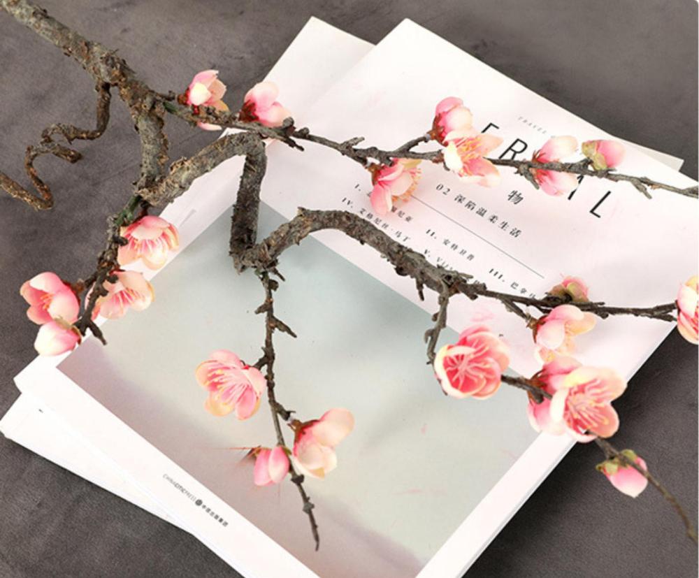 Artificial Cherry Flower Silk Plum Peach Blossom Branch Silk Etsy Cherry Blossom Flowers Cherry Flower Peach Blossoms