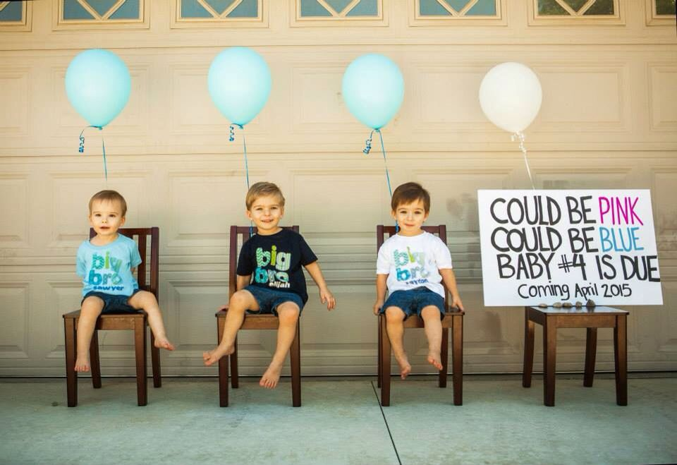 New baby announcement with siblings Cute photo ideas – Sibling Announcing New Baby