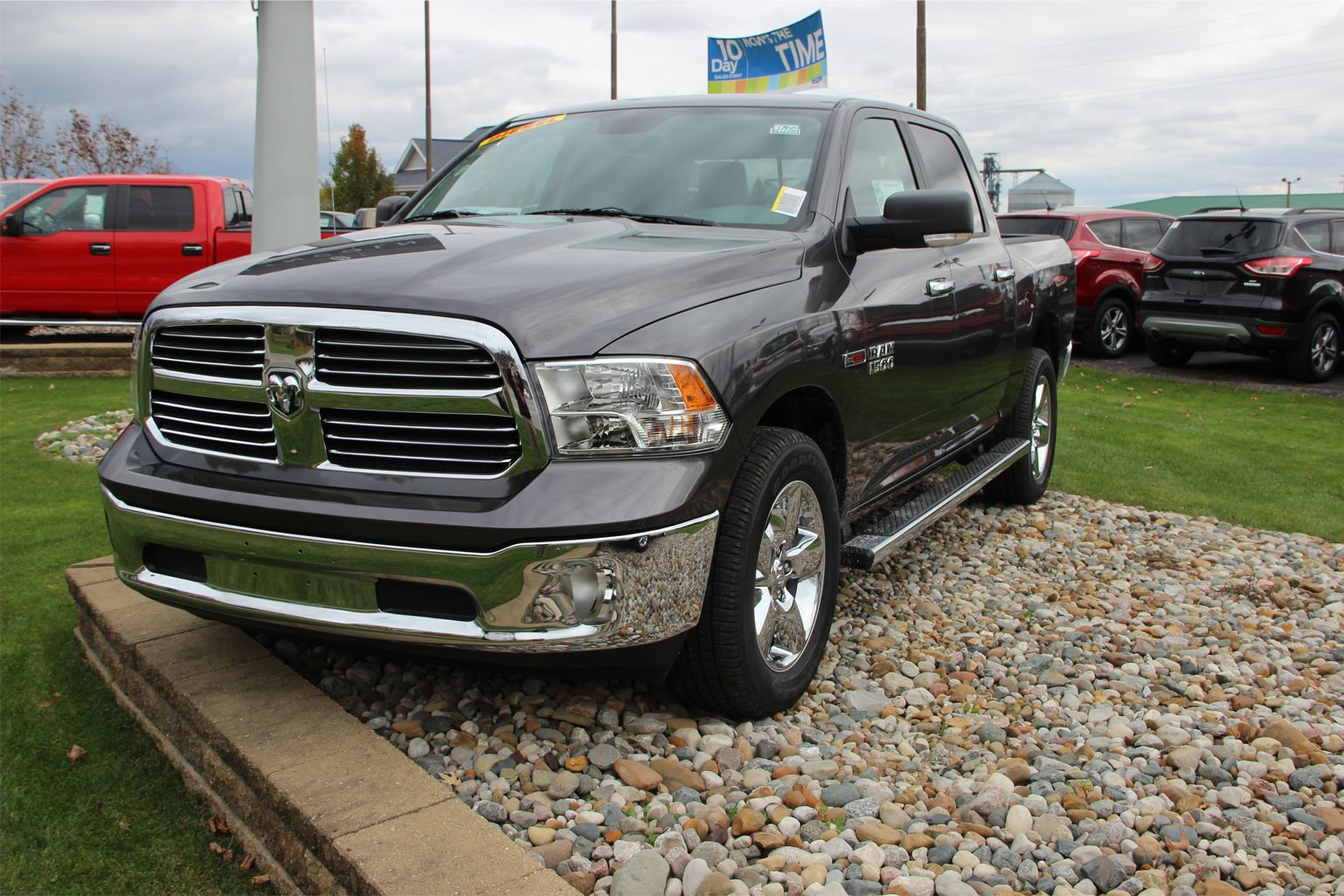 2014 ram 1500 slt crew cab 4x4 granite crystal met clear coat paint eco diesel