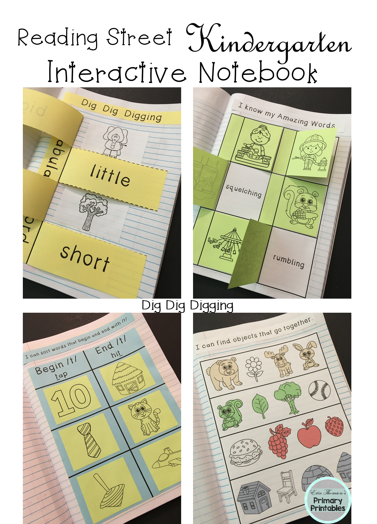Dig Dig Digging Interactive Notebook Reading Street