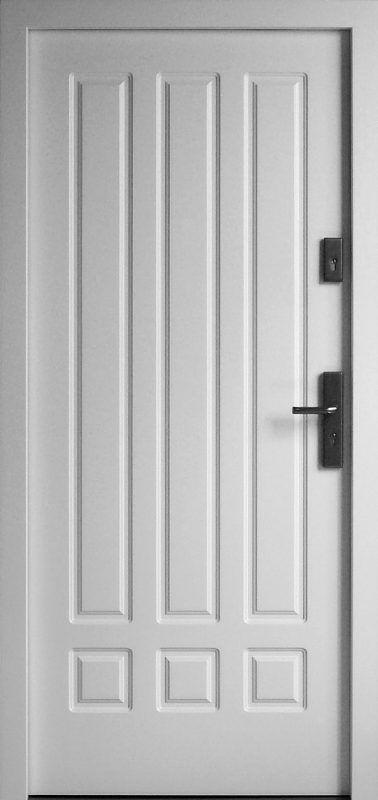 Exterior wooden doors model 533.2 in white