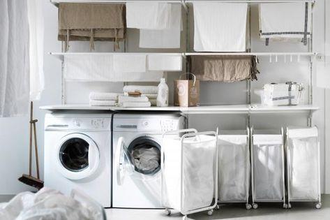 Wäsche sortieren und Trocknen im Hauswirtschaftsraum - Bild 8