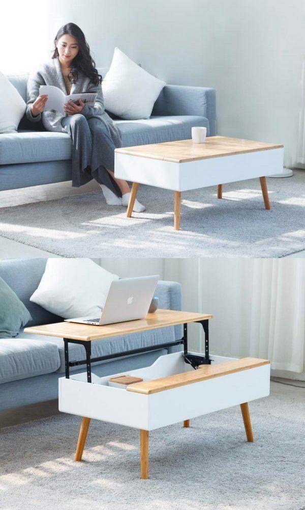 zen's bamboo lift top coffee table hidden storage drawer