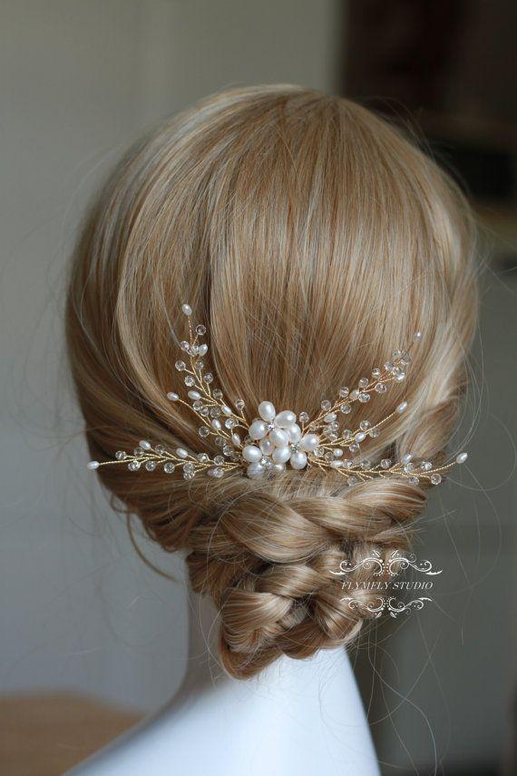 Fresh water Pearl Wedding Hair Accessories Bridal Hair by FLYMFLY